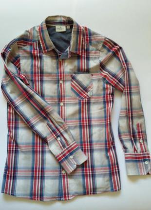 Рубашка хлопковая в клетку tom tailor