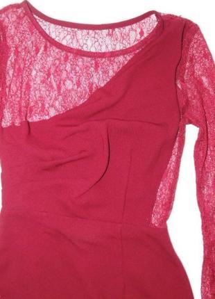 Красивое платье маленького размера, цвета бургундии3 фото