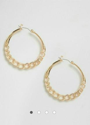Золотые кольца цепочки от asos