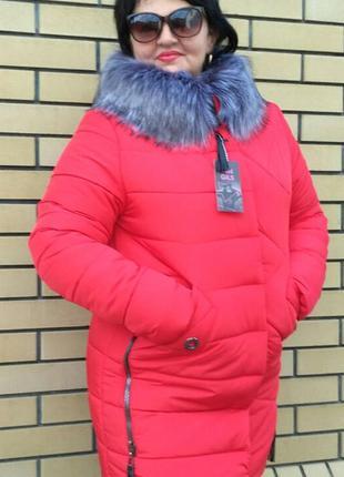 Зимова курточка до 56 розміру