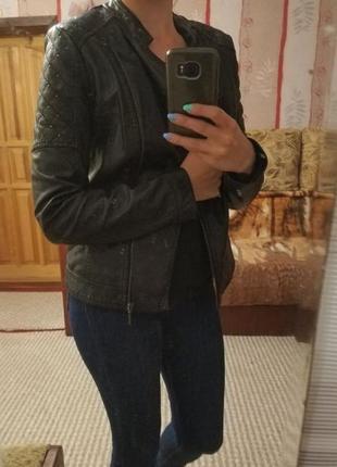 Кожаная куртка mohito, 36 размер s