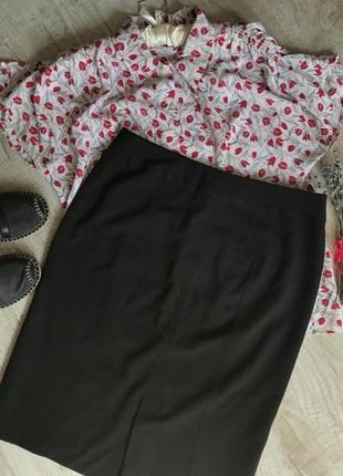 Базовая черная юбка карандаш классическая юбка