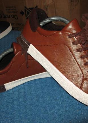 Кроссовки кеды осенние кожа next новые размер 37.5 по стельке 24.5 см