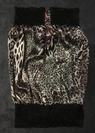 Топ кофта майка леопардовая качественная состояние новой