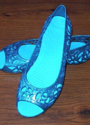 Балетки crocs isabella glitter flat