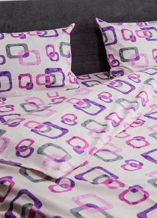 Евро комплект постельного белья из ранфорса. 100% хлопок. шана-текстиль
