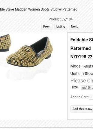 Балетки мокасины туфли с шипами steve madden 38, 39 размер 24,5 - 25 см5