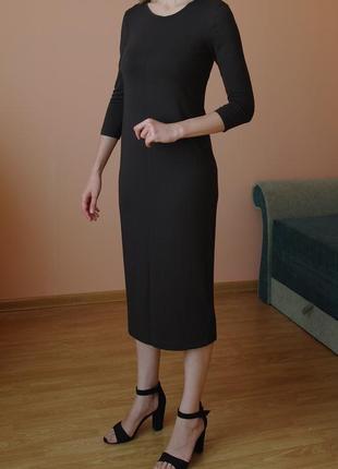 Базовое платье миди вискоза