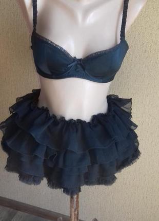 Шифоновая юбка пачка с оборками воланами многослойная 1+1=3