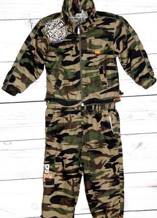"""Невероятно стильный костюм для мальчика в стиле """"милитари""""."""