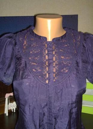 Блуза кофточка рубашка из натурального шелка warehouse3 фото