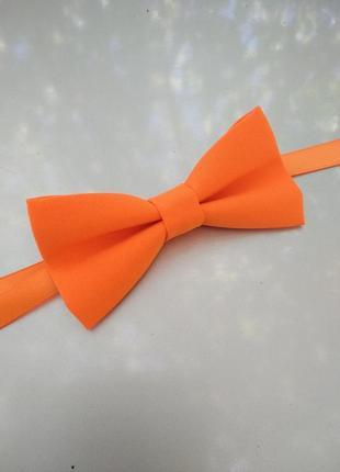 Галстук бабочка оранжевая