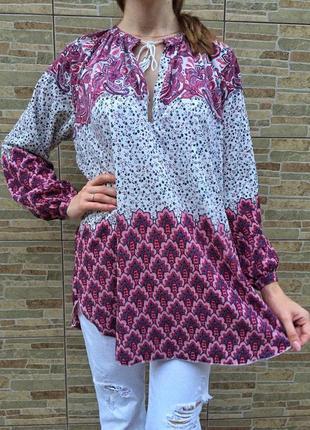 Успей забрать! сочная утонченная блуза - рубашка в этно-стиле, удлиненная модель4