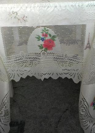 Скатерть ажурная винтаж 140 х 200