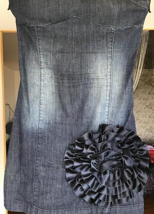 Шикарный джинсовый сарафан a.m.n