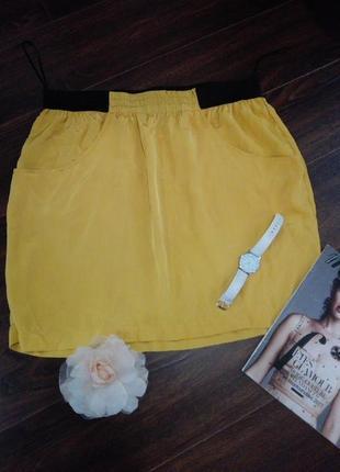 Отличная летняя юбка прямого покроя тончайшая на резинке индия