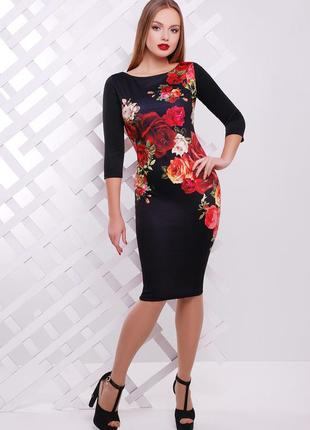 Облегающее трикотажное платье плаття по фигуре миди трикотажна сукня по фігурі міді