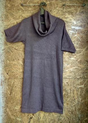 Классическое платье свободного фасона из трикотажа