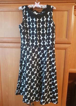 Платье в горошек per una