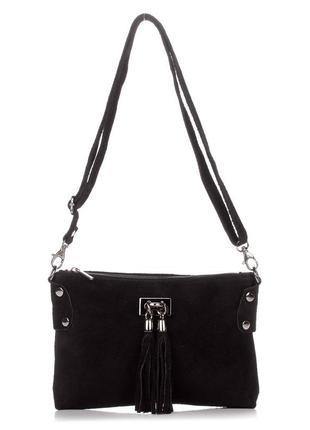 Замшевая черная сумка-клатч tianna италия разные цвета