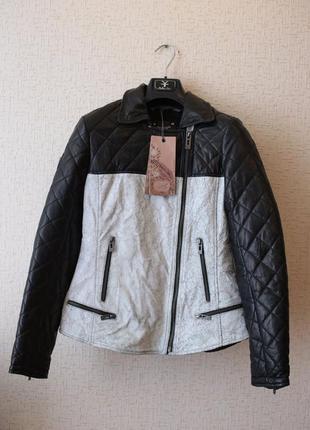 Винтажная кожаная куртка maze (германия)