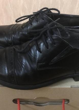 Туфли кожаные ортопедические школьные lapsi 34 (22,5см)