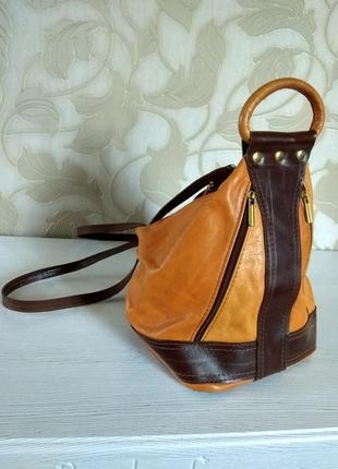 Кожаный мини рюкзачок2 фото