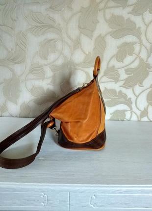 Кожаный мини рюкзачок4 фото