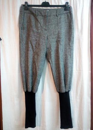 Теплые брюки бриджи на резинках размер uk 14 наш 48