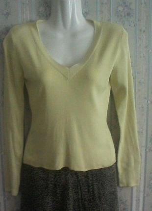 Шелковый базовый свитер , разм. 42, нюанс