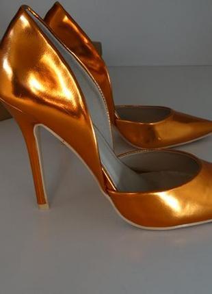Зеркальные туфли лодочки glamorous