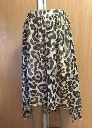 Юбка animal принт со шлейфом размер 6