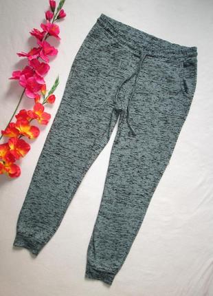 Трикотажные меланжевые спортивные брюки hema