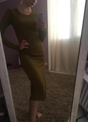 Платье с разрезом от boohoo