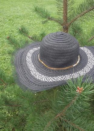 Дуже крутий капелюх з полями, пляжная шляпа,  плетеная женская шляпа с широкими полями