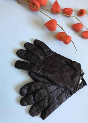 Мужские кожаные перчатки, новые