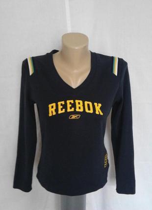 Стильная тенниска,кофта,темно синяя с надписями,оригинал reebok