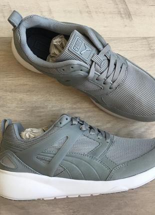 Кроссовки puma aril оригинал серого цвета для фитнеса бега спортивные 39