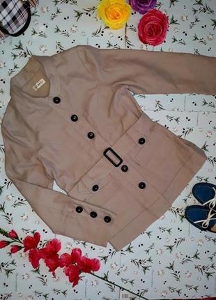 Бежевое кашемировое пальто george, размер m