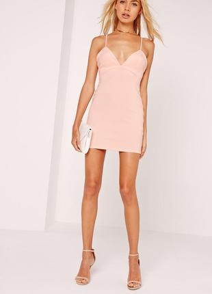 Missguided платье нюд