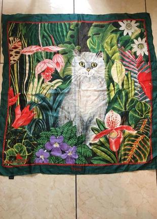 Дизайнерський шовковий платок , ручна робота
