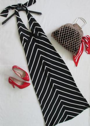 Трендовый полосатый сарафан миди на завязках vero moda