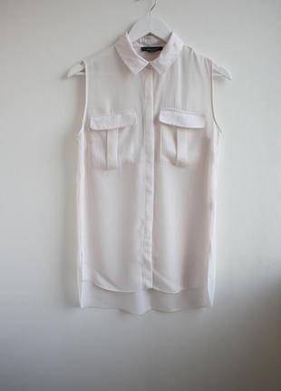 Удлиненная рубашка без рукавов свободного кроя atmosphere