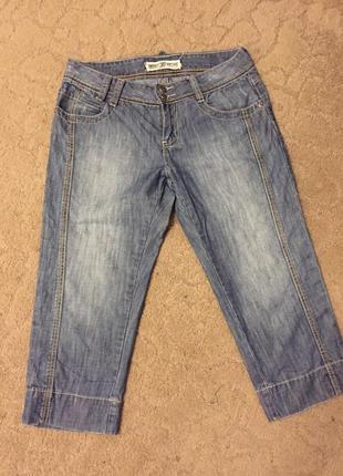 Легкие  бриджи-шорты джинс жен раз m
