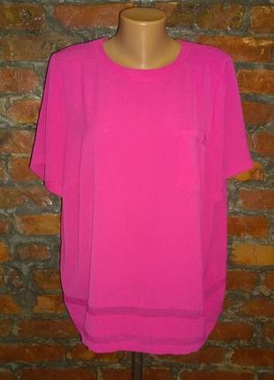 Блуза топ кофточка большого размера marks & spencer неонового оттенка