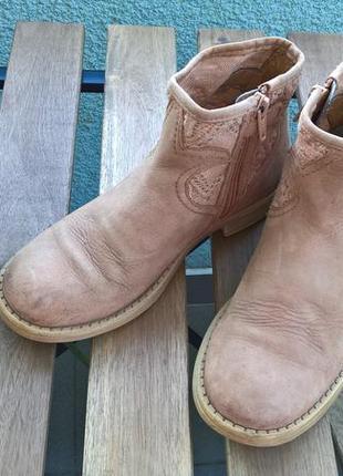 Полуботинки/ботинки/челси для девочки/цвет кемел/беж/от geox-32р