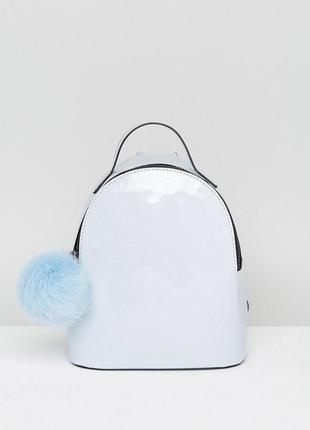 Лаковый рюкзак asos