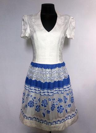 Дешево. стильное платье, кружевной орнамент. турция. новое, р. 42-46