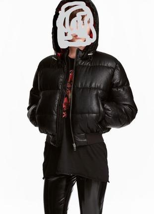 Куртка дутая укороченная на синтепоне