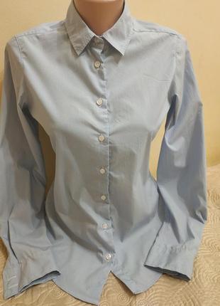 Классическая рубашка в мелкую полоску от new look